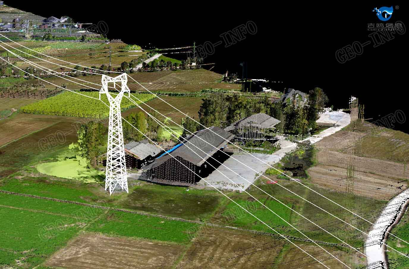 Color Point Cloud & Tower model (GL-70/Dragon 35)