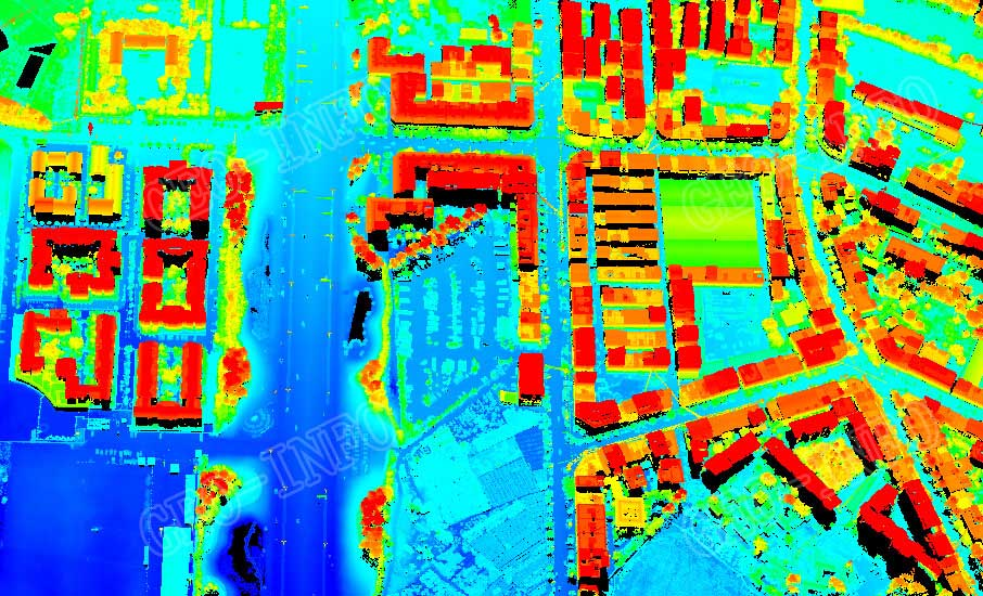 Point cloud attributed by elevation (GL-70/Helicopter)