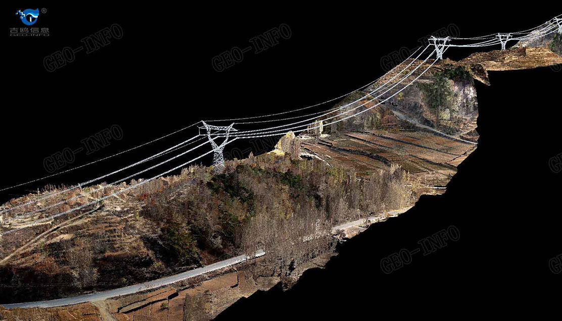 Power line corridors color point cloud (GL-70/helicopter)