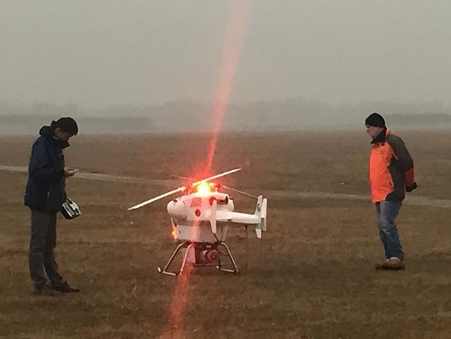 中国水科院激光雷达GL-70搭载Dragon 50顺利验收