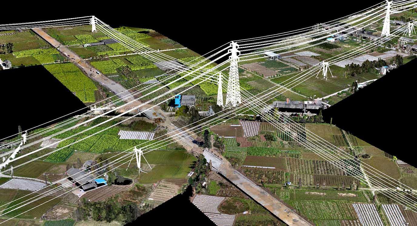 电力线杆塔模型图